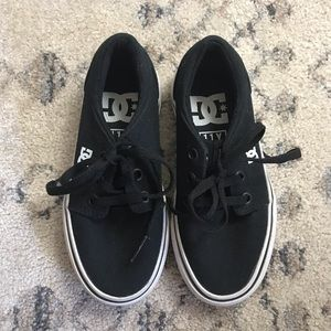 DC Toddler Boy Black Lace Up Sneakers